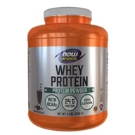 NOW Foods - Whey Protein Dutch Chocolate - 6 lbs. (733739021823)