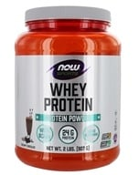 NOW Foods - Whey Protein Dutch Chocolate - 2 lbs. (733739021809)