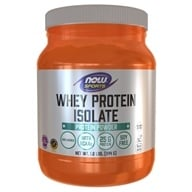 NOW Foods - Whey Protein Isolate 100% Pure Natural Unflavored - 1.2 lbs. - $20.99