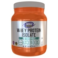 NOW Foods - Whey Protein Isolate 100% Pure Natural Unflavored - 1.2 lbs. by NOW Foods