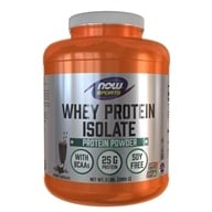 Image of NOW Foods - Whey Protein Isolate Dutch Chocolate - 5 lbs.