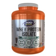 NOW Foods - Whey Protein Isolate Dutch Chocolate - 5 lbs. by NOW Foods