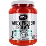 NOW Foods - Whey Protein Isolate Dutch Chocolate - 1.8 lbs. - $34.99