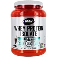 Image of NOW Foods - Whey Protein Isolate Dutch Chocolate - 1.8 lbs.