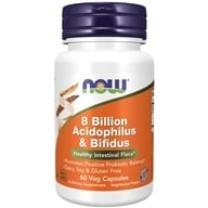NOW Foods - Acidoph/Bifidus 8 Billion - 60 Capsules (733739029300)