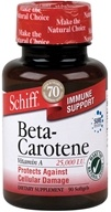 Schiff - Beta-Carotene Vitamin A 25000 IU - 90 Softgels CLEARANCE PRICED