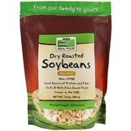 NOW Foods - Soybeans, Dry Roasted and Unsalted, Non-GE - 12 oz. (733739067913)