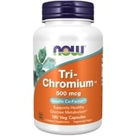 NOW Foods - Tri-Chromium with Cinnamon 500 mcg. - 180 Vegetarian Capsules by NOW Foods