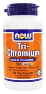NOW Foods - Tri-Chromium with Cinnamon 500 mcg. - 90 Vegetarian Capsules
