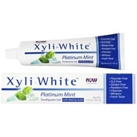 NOW Foods - XyliWhite Toothpaste Gel Fluoride-Free Platinum Mint - 6.4 oz. - $3.49