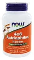 NOW Foods - Acidophilus 4x6 (4 Billion Potency, 6 Probiotic Strains) - 3 oz. (733739029256)