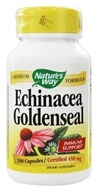 Nature's Way - Echinacea-Goldenseal (Certified Organic) 450 mg. - 100 Vegetarian Capsules, from category: Herbs
