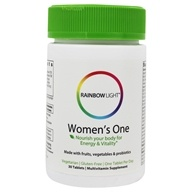 Image of Rainbow Light - Women's One Food-Based Multivitamin 800 IU - 30 Tablets