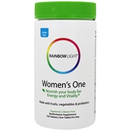 Image of Rainbow Light - Women's One Food-Based Multivitamin 800 IU - 150 Tablets