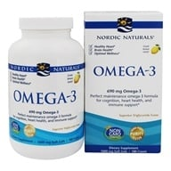 Nordic Naturals - Omega-3 Purified Fish Oil Lemon 1000 mg. - 180 Softgels by Nordic Naturals