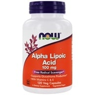 NOW Foods - Alpha Lipoic Acid 100 mg. - 120 Vegetarian Capsules (733739030412)