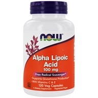 NOW Foods - Alpha Lipoic Acid 100 mg. - 120 Vegetarian Capsules by NOW Foods