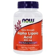 NOW Foods - Alpha Lipoic Acid 600 mg. - 120 Vegetarian Capsules (733739030450)