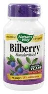 Nature's Way - Standardized Bilberry - 90 Vegetarian Capsules - $13.79