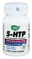 Nature's Way - 5-HTP with B-6 & Vitamin C (Natural Griffonia Bean Extract) 50 mg. - 30 Enteric-Coated Tablets (033674452400)