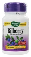 Image of Nature's Way - Bilberry Standardized Extract - 60 Capsules
