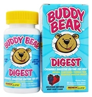 ReNew Life - Buddy Bear Digest Digestive Enzyme Supplement for Children Berry - 60 Chewable Tablets by ReNew Life
