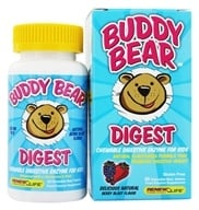 Image of ReNew Life - Buddy Bear Digest Digestive Enzyme Supplement for Children Berry - 60 Chewable Tablets