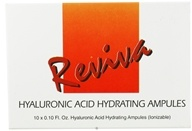 Reviva Labs - Hyaluronic Acid Hydrating Ampules 10 each 0.10 Fl oz. vials, from category: Nutritional Supplements