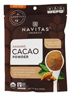 Navitas Organics - Cacao Power Raw Powder Certified Organic Chocolate - 8 oz.