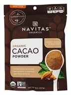 Navitas Naturals - Cacao Power Raw Powder Certified Organic Chocolate - 8 oz. by Navitas Naturals