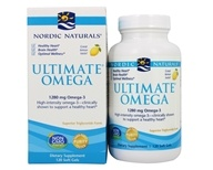 Nordic Naturals - Ultimate Omega Purified Fish Oil Lemon 1000 mg. - 120 Softgels, from category: Nutritional Supplements