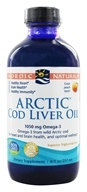 Image of Nordic Naturals - Arctic Cod Liver Oil Peach - 8 oz.