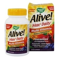 Image of Nature's Way - Alive Multi-Vitamin Whole Food Energizer No Iron Added - 90 Vegetarian Capsules