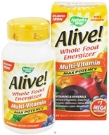 Nature's Way - Alive Multi-Vitamin Whole Food Energizer No Iron Added - 60 Tablets (033674149300)
