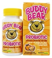 Image of ReNew Life - Buddy Bear Probiotic for Kids Orange - 60 Chewable Tablets