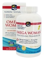 Image of Nordic Naturals - Omega Woman Evening Primrose Oil Blend Lemon 500 mg. - 120 Softgels