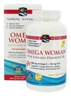 Nordic Naturals - Omega Woman Evening Primrose Oil Blend Lemon 500 mg. - 120 Softgels - $21.21