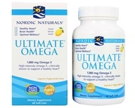 Image of Nordic Naturals - Ultimate Omega Purified Fish Oil Lemon 1000 mg. - 60 Softgels