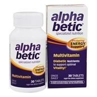 Enzymatic Therapy - Alpha Betic Specialized Nutrition Multivitamin Plus Extended Energy - 30 Tablets - $9.26