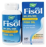 Image of Nature's Way - Fisol Fish Oil 500 mg. - 180 Softgels LUCKY DEAL