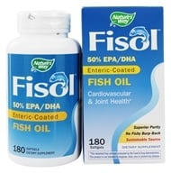 Nature's Way - Fisol Fish Oil 500 mg. - 180 Softgels LUCKY DEAL by Nature's Way