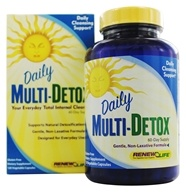Image of ReNew Life - Daily Multi-Detox Cleanse - 120 Vegetarian Capsules