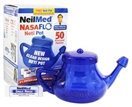 NeilMed Pharmaceuticals - NasaFlo Neti Pot Clear Design - 50 Premixed Packets