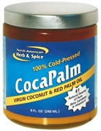 North American Herb & Spice - CocaPalm Virgin Coconut & Red Palm Oil - 8 oz. by North American Herb & Spice