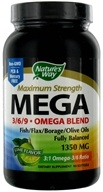 Nature's Way - Mega 3 6 9 Omega EFA Blend Lime 1350 mg. - 90 Softgels (033674154403)