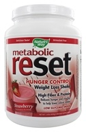 Nature's Way - Metabolic Reset Hunger Control Weight Loss Shake Strawberry - 630 Grams by Nature's Way