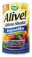 Nature's Way - Alive Soy Protein Ultra-Shake Whole Food Energizer Vanilla - 1.3 lbs. by Nature's Way