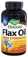 Image of Nature's Way - Flax Oil (High Potency) 1300 mg. - 200 Softgels