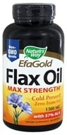 Nature's Way - Flax Oil (High Potency) 1300 mg. - 200 Softgels by Nature's Way