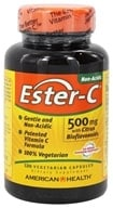 American Health - Ester-C with Citrus Bioflavonoids 500 mg. - 120 Vegetarian Capsules by American Health